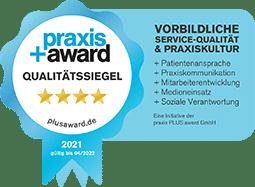 Praxis Plus Award Qualitätssiegel