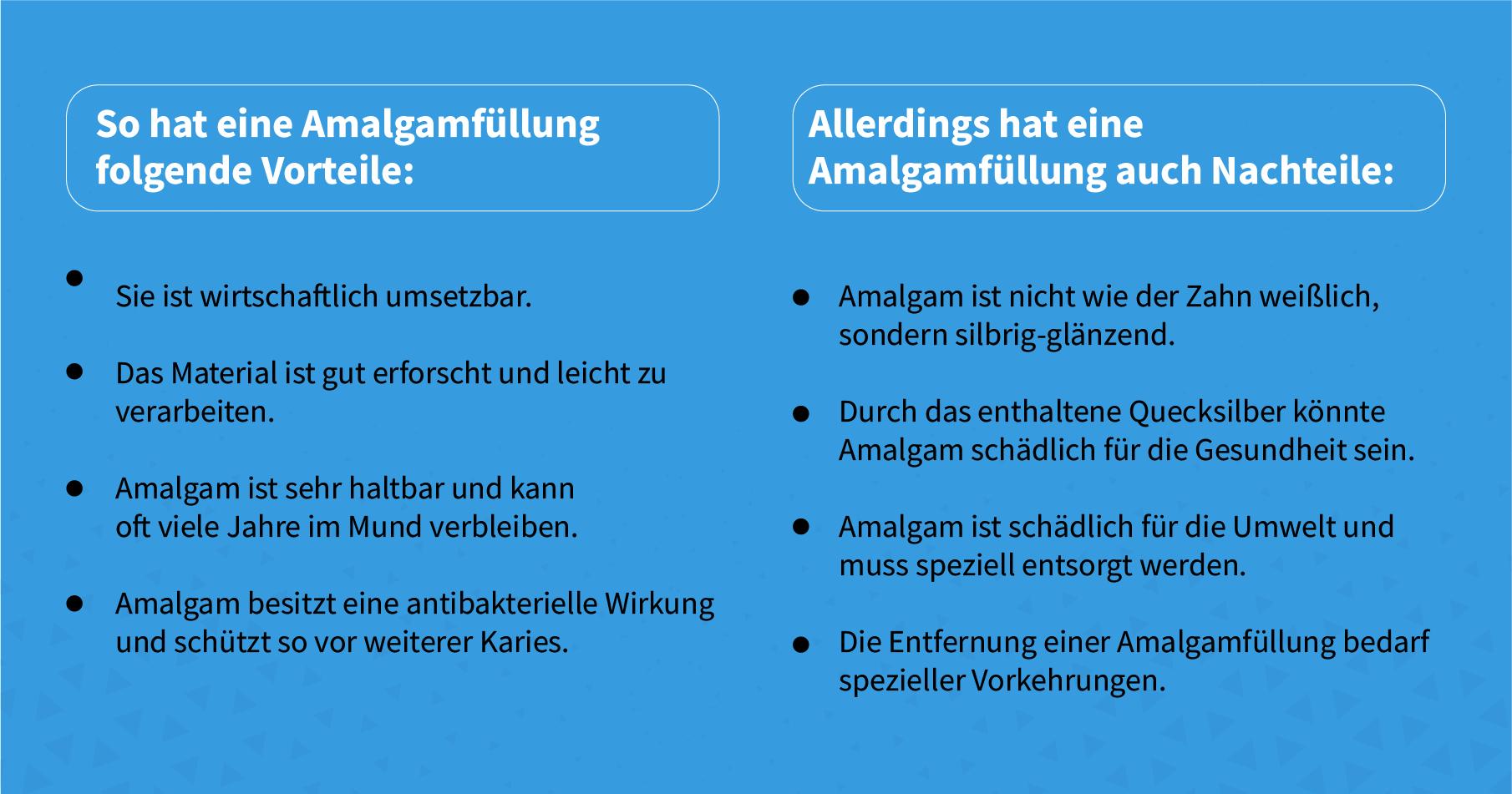 Vorteile und Nachteile von Amalgam
